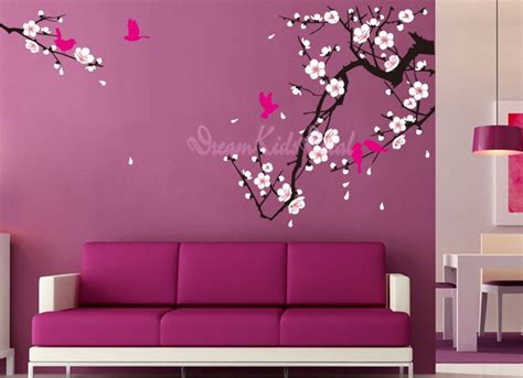 cherry blossom wall stickers cherry blossom wall decal birds decals flower vinyl wall
