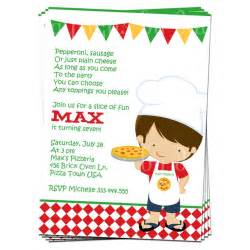 printable boy or pizza invitation