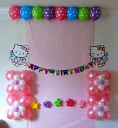bday decoration ideas at home simple decorating of party