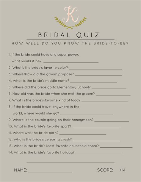 bridal shower questions wedding shower questions