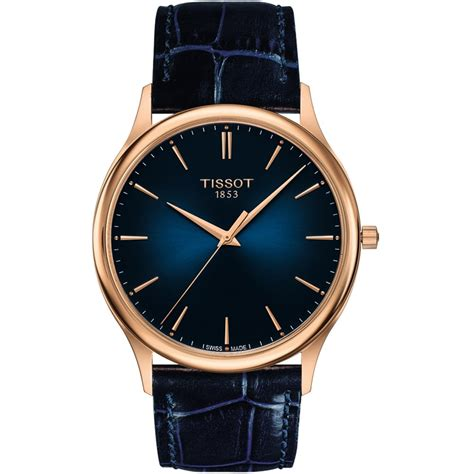 Tissot Matic 4 tissot s goldrun blue leather 18ct gold watches from francis gaye jewellers uk