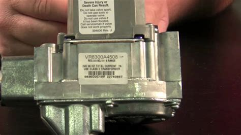 replacing gas valves on furnaces and water heaters
