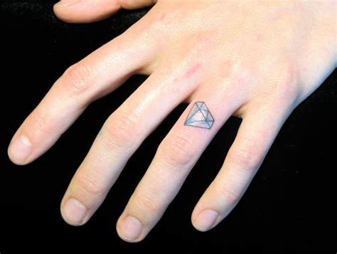 tattoo goo rash tattooed engagement diamond on the ring finger so cute