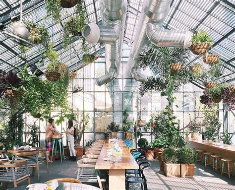 rooftop gardens greenhouses  gorgeous places  eat