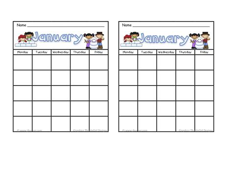 printable incentive charts for preschool january incentive sticker charts free pinterest