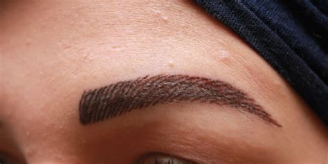 non permanent eyebrows tattoo from elias tabello