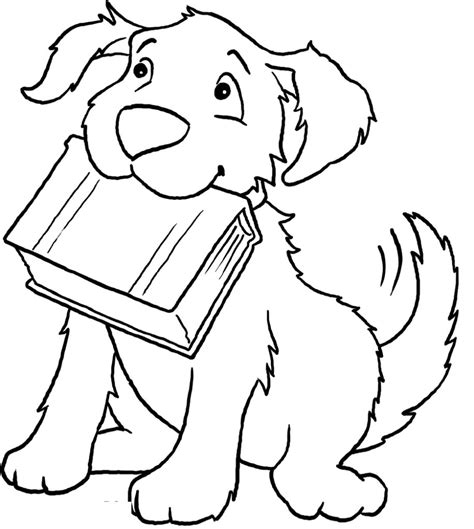 coloring book page from photo free printable dog coloring pages for kids inside book