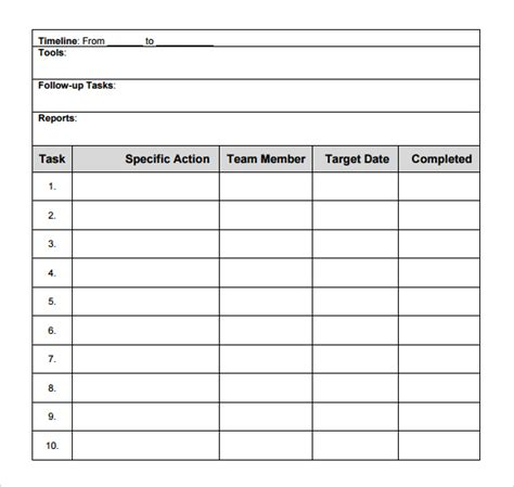 layout template pdf 8 action plan templates excel pdf formats