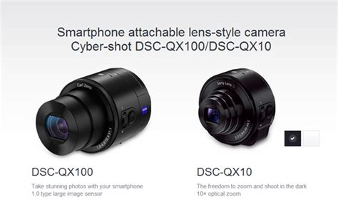 Lensa Sony For Android exrein sony kamera qx smart lens untuk smart phone