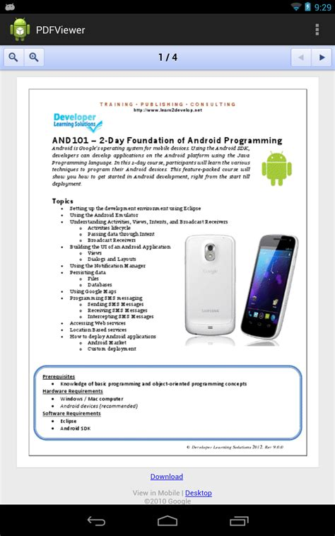 what is android webview learn2develop net android tip displaying a pdf document inside a webview