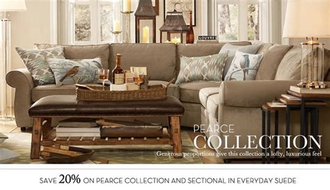 pb pearce sectional pearce sectional pb rooms and spaces pinterest