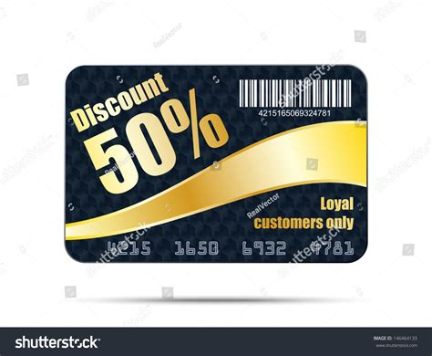 Vip Discount Card Template by Discount Card Template Vector Illustration Stock Vector