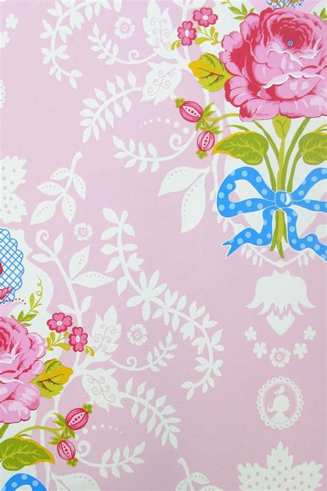 shabby chic pink wallpaper gallery