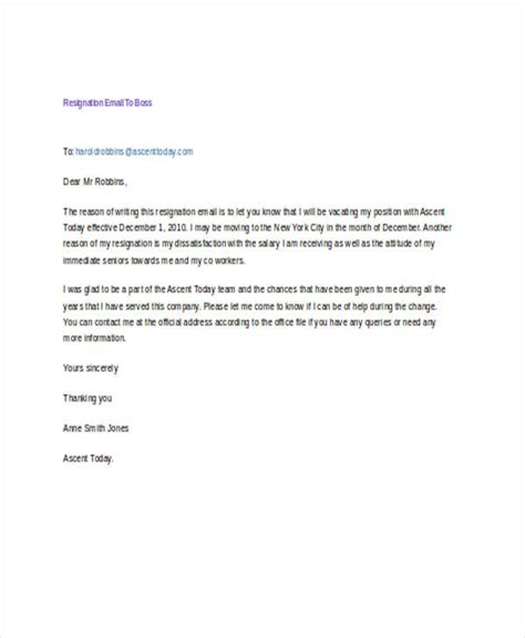 17 resignation email exles sles
