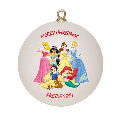 personalized disney princesses christmas ornament gift