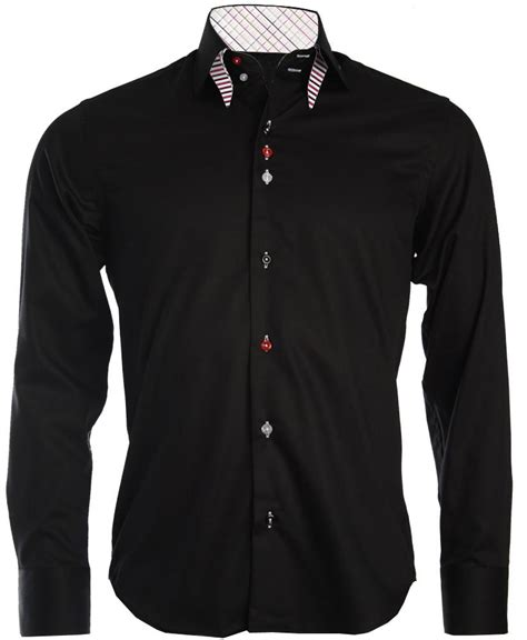 Black Dress Shirt Button Collar by S Button Collar Shirt