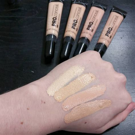 La High Definition Pro Bb Neutral swatches of the four lightest shades of the la pro