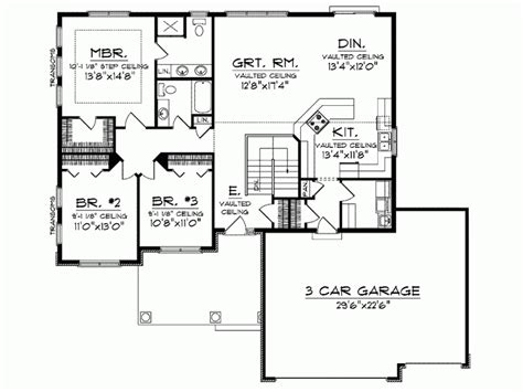 house plans with no dining room ranch home plans no formal dining room level 1 view