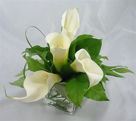 Small Calla Lily Centerpiece Baby S Breath Wedding Calla Lilies Centerpieces