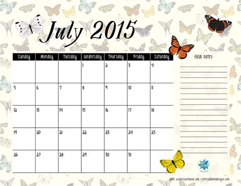 printable monthly calendar for july 2015 9 best images of free printable july 2015 free large