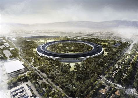 new apple headquarters new images of apple s solar powered spaceship headquarters