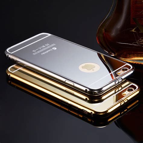 Luxury Mirror For Iphone 5 5s 6 6s Fullc Aksesoris Hp Termurah creatvalu luxury aluminum ultra thin mirror metal