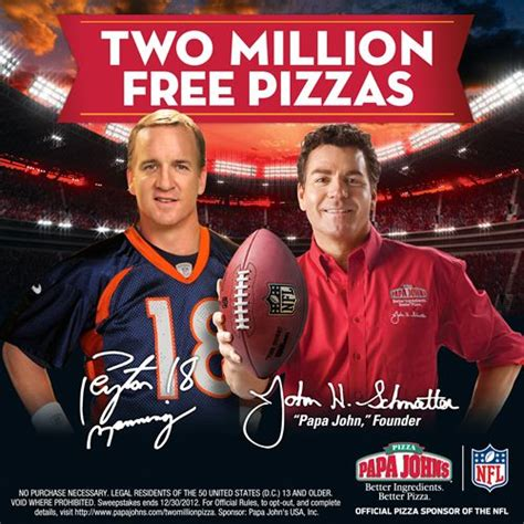 Papa Johns Giveaway - papa john s kicks off nfl season with 2 million pizza giveaway restaurant magazine