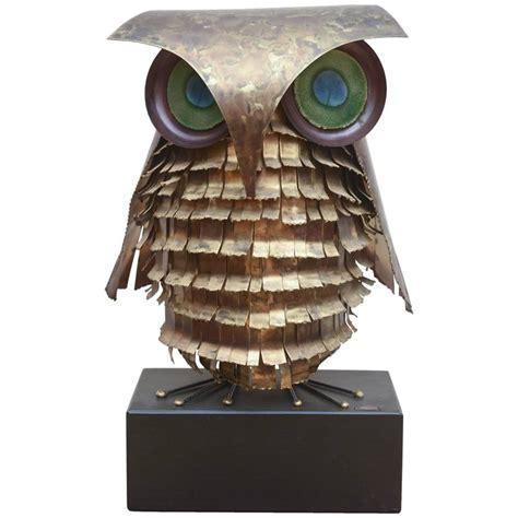 curtis jere mid century large metal owl sculpture at 1stdibs