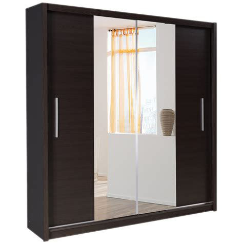 Sliding Mirrored Door Wardrobes richmond 4 door mirrored sliding wardrobe bedroomfurnitureworld co uk