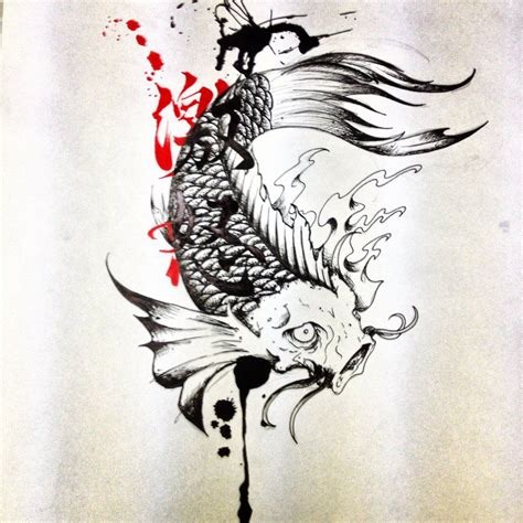 are tattoos trashy trash polka koi by dazzbishop deviantart on