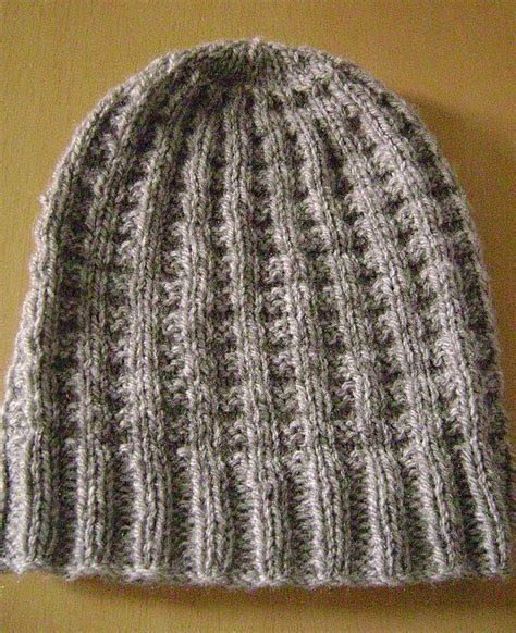 free hat knitting patterns needles waffle hat pattern free on ravelry knitting
