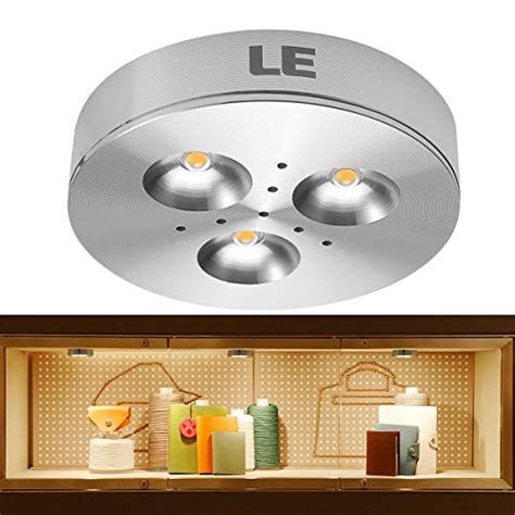 Le 174 Brightest Led Under Cabinet Lighting Puck Lights Warm Led Cabinet Lighting