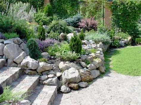 Rock Gardens Designs Best 25 Rock Wall Gardens Ideas On Rock Wall Landscape Plants For Rock Garden And