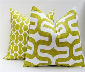 decorative pillow covers lime green pillow by eastandnest