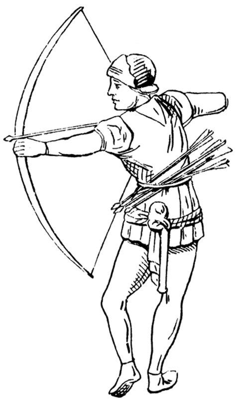 Archer, 15th century England   ClipArt ETC