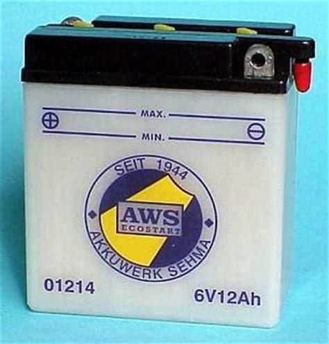 Motorradbatterie Pluspol by Motorradbatterie 01214 6v 12ah Batterie Ecke
