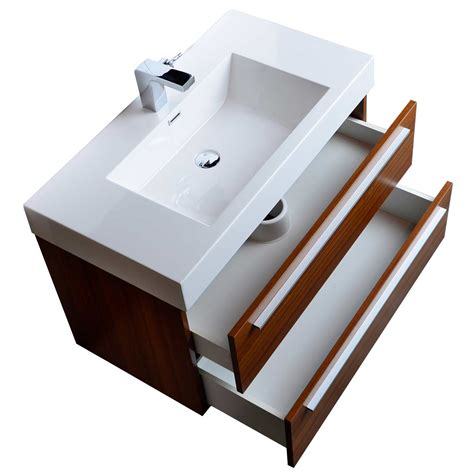35 5 Quot Wall Mount Contemporary Bathroom Vanity Teak Tn M900 Modern Wall Mounted Bathroom Vanities