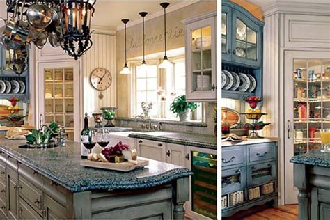 French Country Kitchen Blue Colors Home Round | french country kitchen blue colors home round