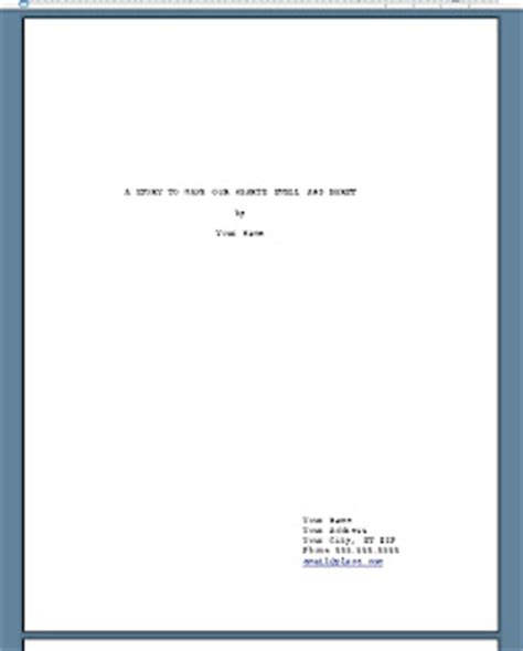 script title page template i m not arguing that with you how to use word x for mac
