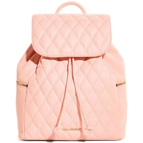 light pink leather backpack vera bradley quilted backpack in blush 258 liked on