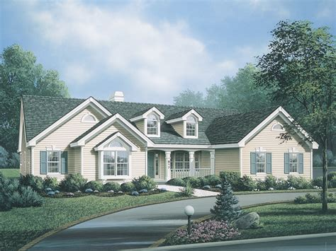 Ranch With Dormers manor country home plan 007d 0113 house plans and more