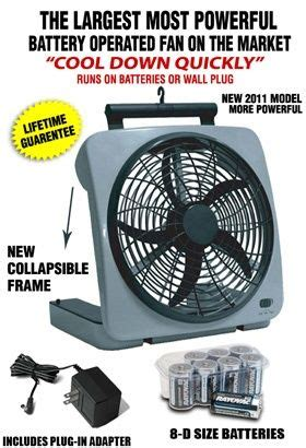 large battery operated fan o2 cool large battery powered fan cing emergencies
