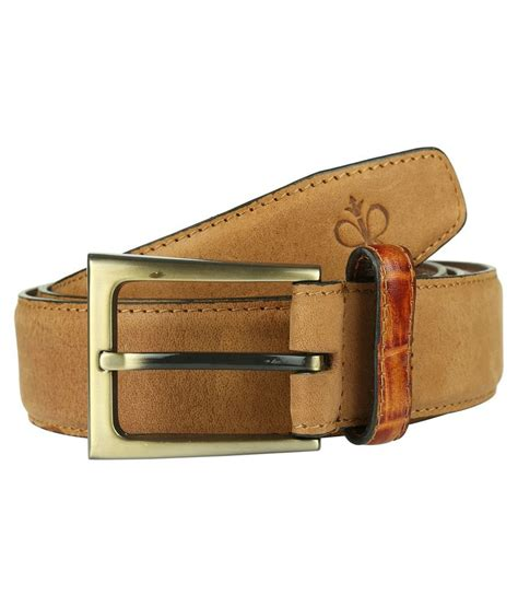 raymond brown leather belt for buy at low