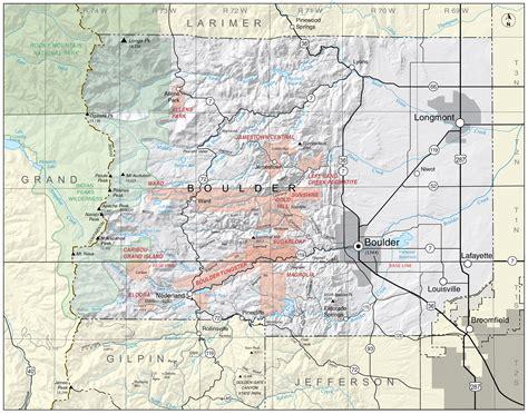 map of of colorado boulder boulder county colorado geological survey