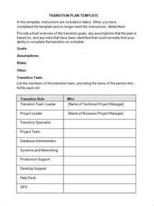 software project transition plan template 5 transition plan templates sle templates