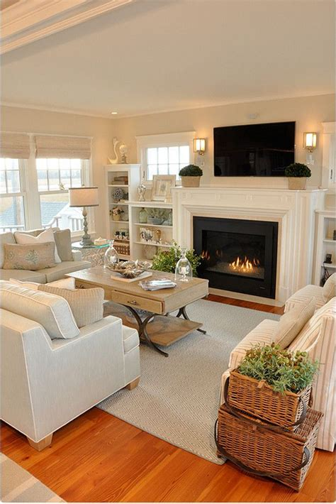 livingroom in 20 lovely living rooms with fireplaces