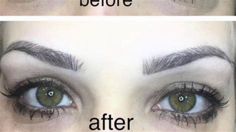 eyebrow tattoo using micro blading before and after youtube