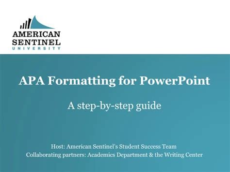 Apa Formatting For Powerpoint Youtube How To Use Apa Format In Powerpoint