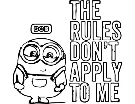 Minions Coloring Pages Bob Coloring Home Minion Coloring Pages