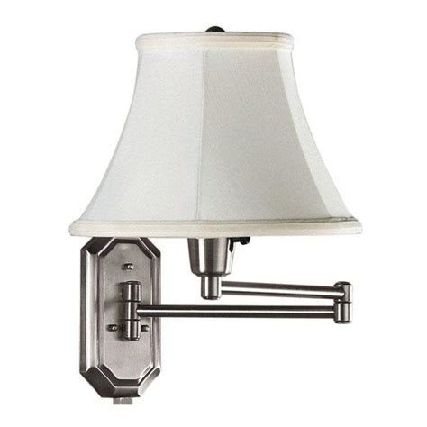 home decorators collection 1 light brushed steel swing arm